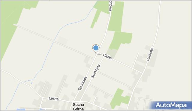 Sucha Górna, Sportowa, mapa Sucha Górna