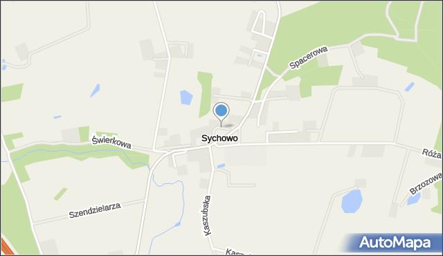 Sychowo, Spokojna, mapa Sychowo