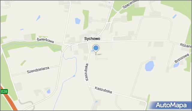 Sychowo, Sportowa, mapa Sychowo