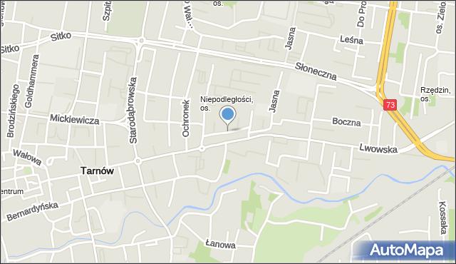 Tarnów, Spadzista, mapa Tarnów