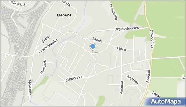 Tarnowskie Góry, Spadowa, mapa Tarnowskie Góry