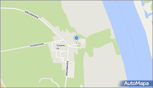 Toruń, Spacerowa, mapa Torunia