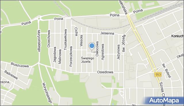 Toruń, Spokojna, mapa Torunia