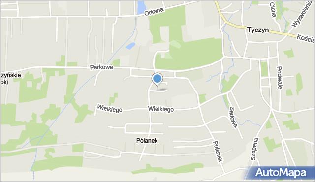 Tyczyn powiat rzeszowski, Sportowa, mapa Tyczyn powiat rzeszowski