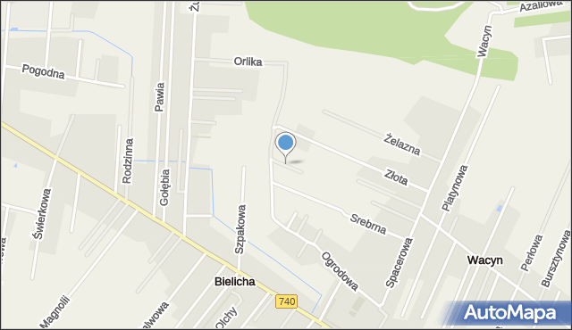Wacyn, Spokojna, mapa Wacyn