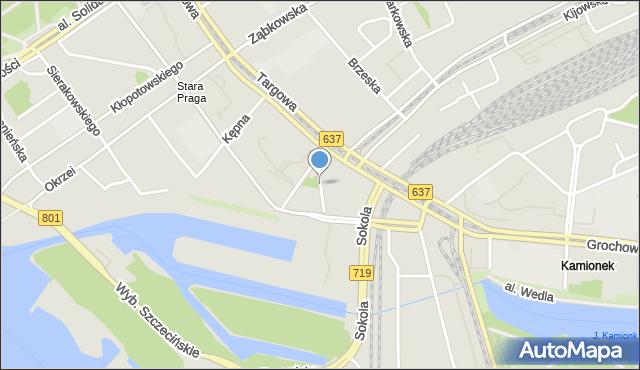 Warszawa, Sprzeczna, mapa Warszawy