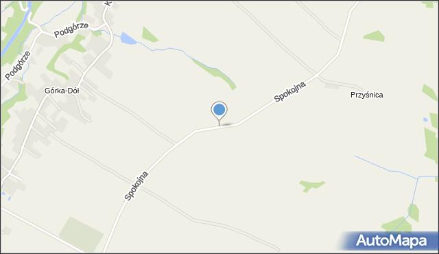 Wieprz powiat wadowicki, Spokojna, mapa Wieprz powiat wadowicki