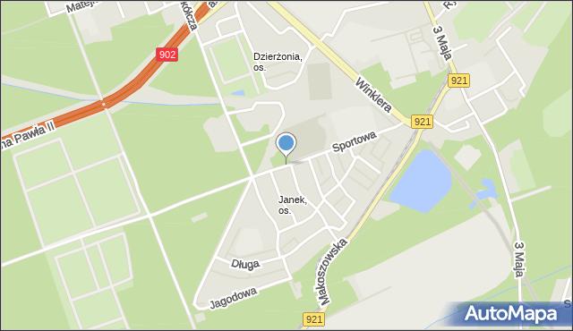 Zabrze, Sportowa, mapa Zabrza