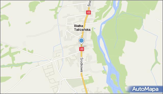 Białka Tatrzańska, Środkowa, mapa Białka Tatrzańska