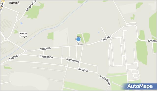 Częstochowa, Srebrna, mapa Częstochowy