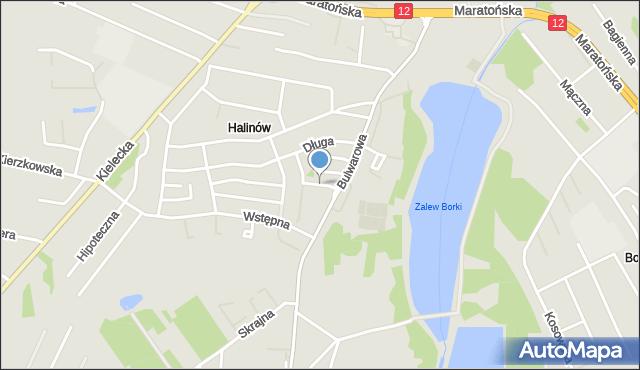 Radom, Srebrna, mapa Radomia