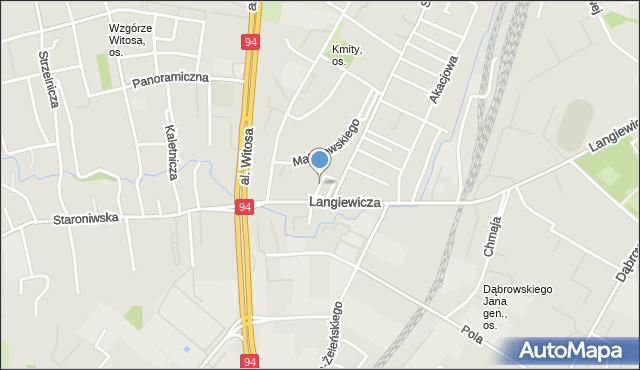 Rzeszów, Srebrna, mapa Rzeszów