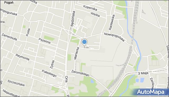 Sosnowiec, Średnia, mapa Sosnowca