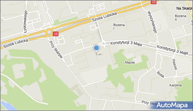 Toruń, Srebrnego Stefana, mapa Torunia