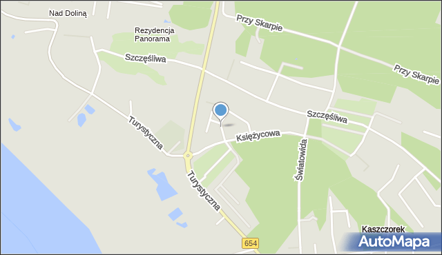 Toruń, Srebrzysta, mapa Torunia