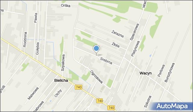 Wacyn, Srebrna, mapa Wacyn