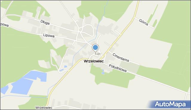 Wrzelowiec, Środkowa, mapa Wrzelowiec