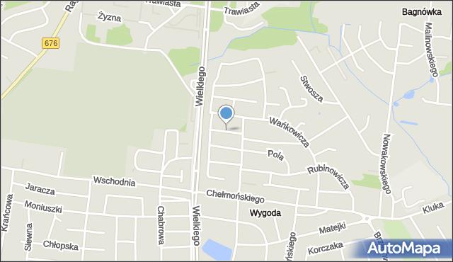 Białystok, Struga Andrzeja, mapa Białegostoku