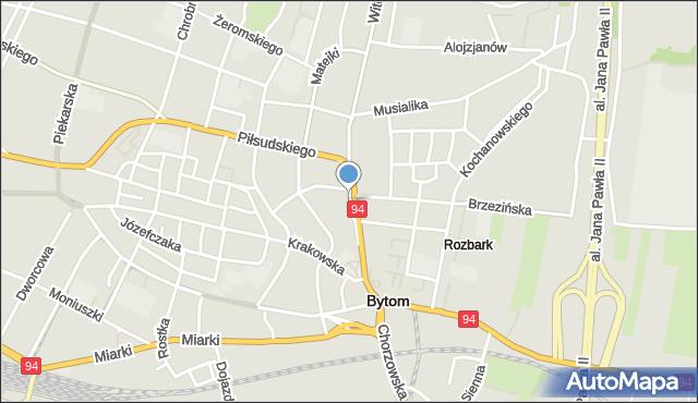 Bytom, Staromiejska, mapa Bytomia