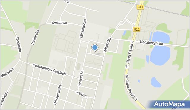 Bytom, Stawowa, mapa Bytomia