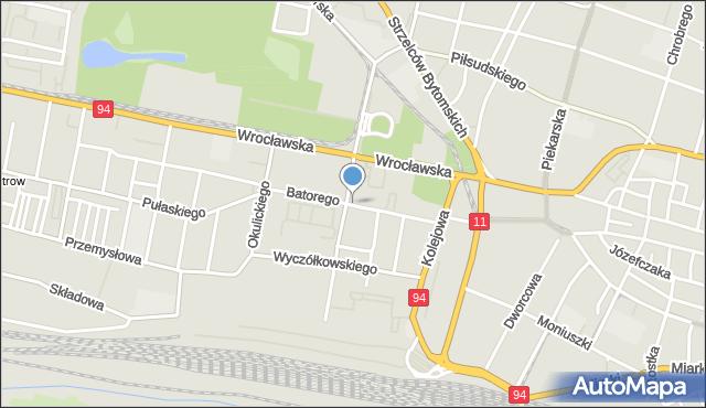 Bytom, Stefana Batorego, mapa Bytomia