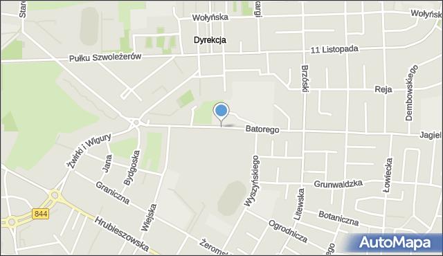 Chełm, Stefana Batorego, mapa Chełma