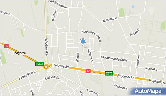 Chełm, Storczykowa, mapa Chełma