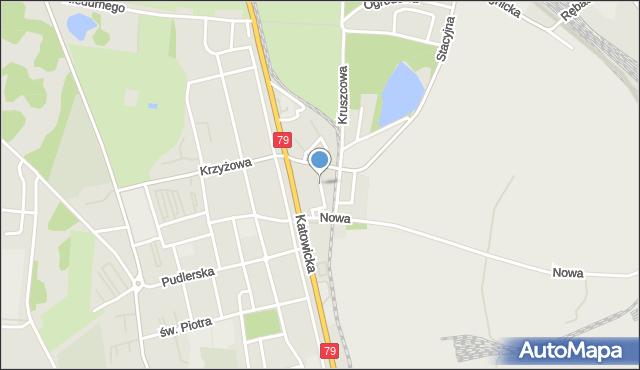 Chorzów, Stabika Antoniego, ks., mapa Chorzów