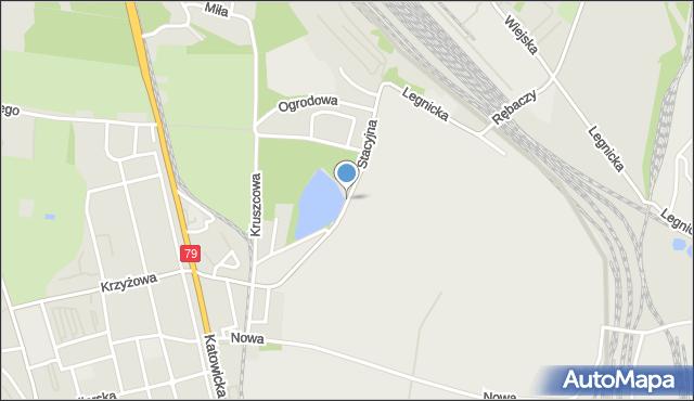 Chorzów, Stacyjna, mapa Chorzów