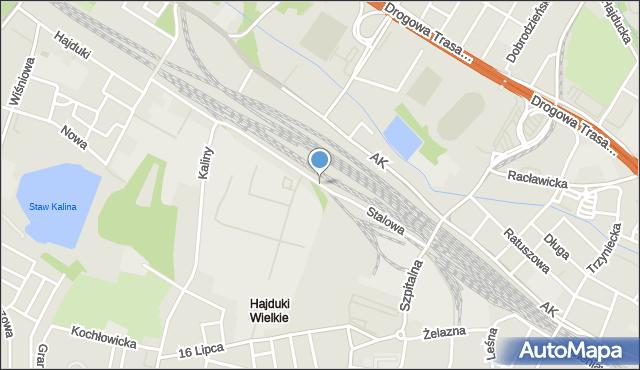 Chorzów, Stalowa, mapa Chorzów