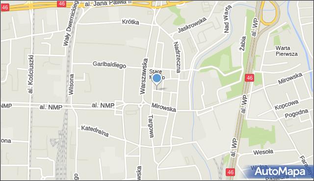 Częstochowa, Stary Rynek, mapa Częstochowy