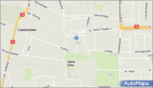 Częstochowa, Stara, mapa Częstochowy