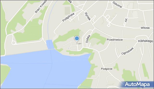 Dobczyce, Stare Miasto, mapa Dobczyce