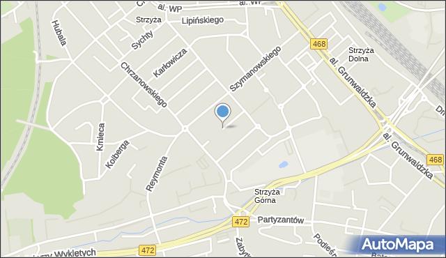 Gdańsk, Stachury Edwarda, mapa Gdańska