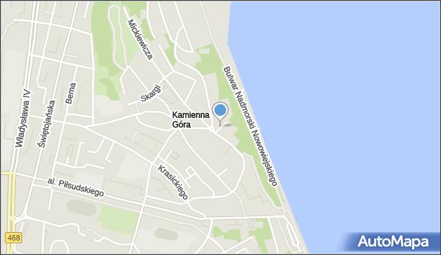 Gdynia, Stwosza Wita, mapa Gdyni