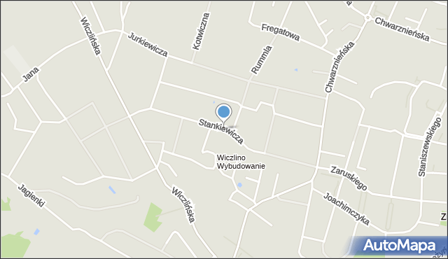 Gdynia, Stankiewicza Mamerta, kpt., mapa Gdyni