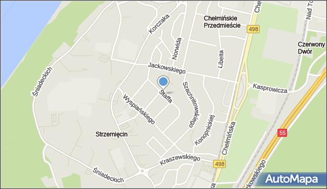 Grudziądz, Staffa Leopolda, mapa Grudziądza