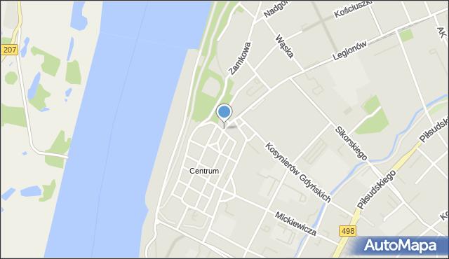 Grudziądz, Stara, mapa Grudziądza