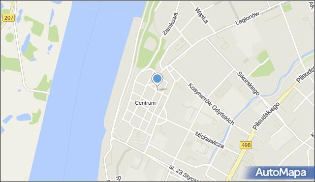 Grudziądz, Starorynkowa, mapa Grudziądza