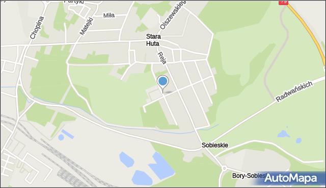 Jaworzno, Stawowa, mapa Jaworzno