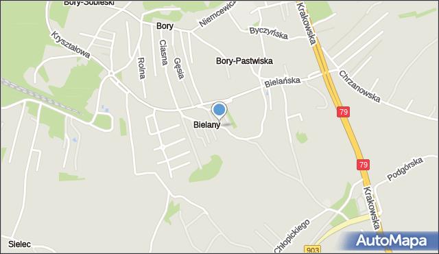 Jaworzno, Stroma, mapa Jaworzno