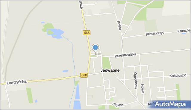 Jedwabne, Stary Rynek, mapa Jedwabne