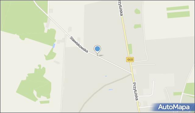 Jedwabne, Stawiskowska, mapa Jedwabne