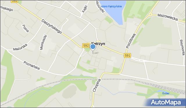 Kętrzyn, Staromiejska, mapa Kętrzyn