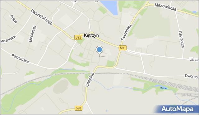 Kętrzyn, Struga Andrzeja, mapa Kętrzyn
