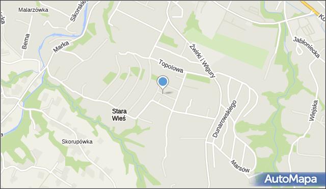 Limanowa, Staniszewskiego Józefa, mapa Limanowa