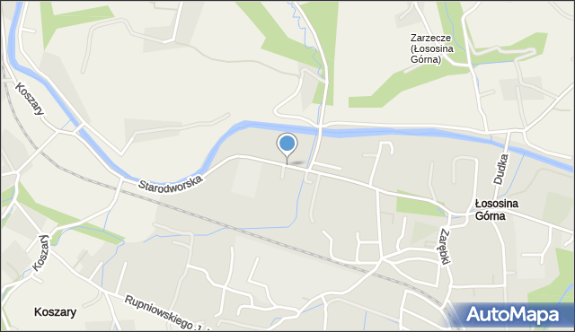 Limanowa, Starodworska, mapa Limanowa