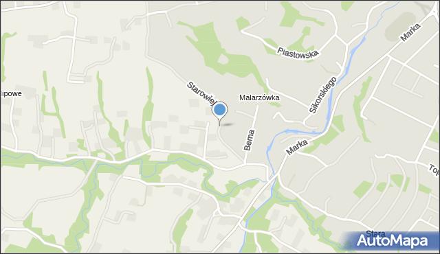 Limanowa, Starowiejska, mapa Limanowa
