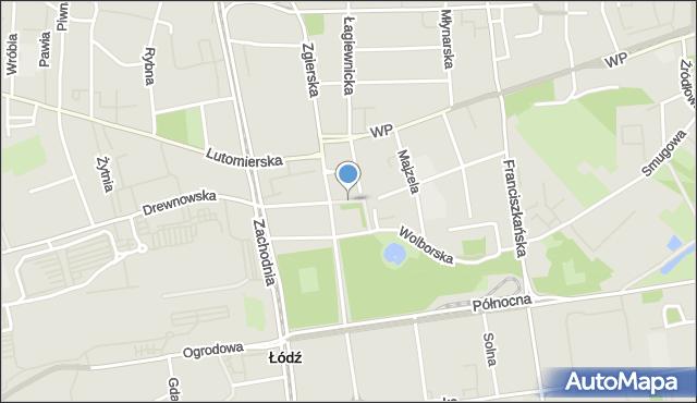 Łódź, Stary Rynek, mapa Łodzi