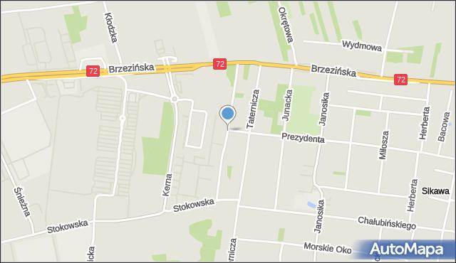 Łódź, Strążyska, mapa Łodzi